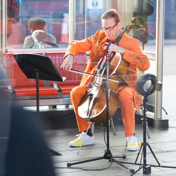 ART ON THE UNDERGROUND: DISPLACED DUET (CELLO)