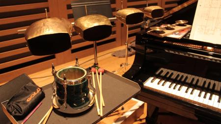 A snapshot of some of the instrumentation necessary for the performance of Stockhausen's Kontakte, October 2016