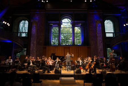 The London Sinfonietta rehearse in the beautiful LSO St Luke's, November 2016