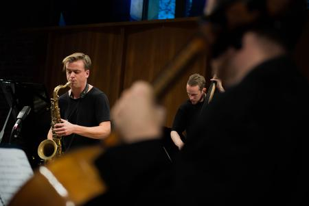 Marius Neset in rehearsal, November 2016