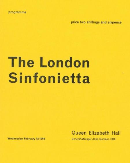 1969 - Birtwhistle: Verses for Ensemble, 12 February