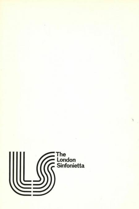 1974 - Lutyens: Plenum II, 14 June, generously supported by Camilla & Anthony Whitworth-Jones