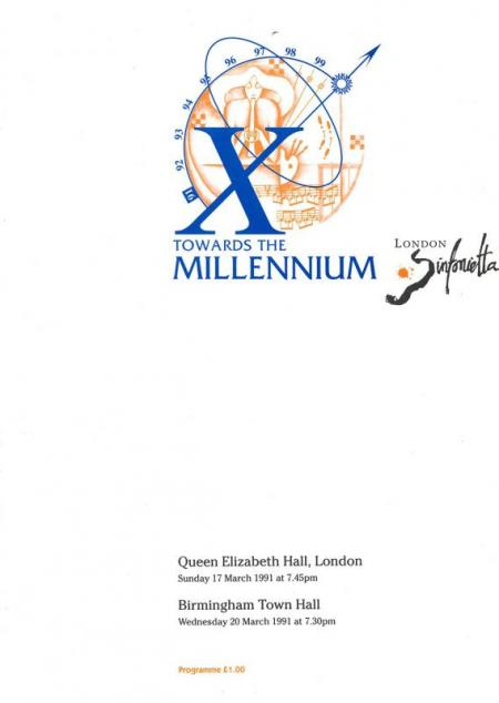 1991 - Towards the Millennium, 17 March, generously supported by Régis Cochefert and Thomas Ponsonby
