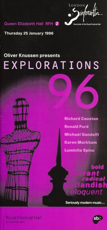 1996 - Oliver Knussen presents Explorations, January