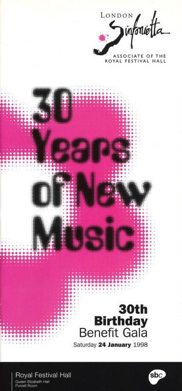 1998 - 30 Years of New Music: 30th Birthday Benefit Gala, 24 January