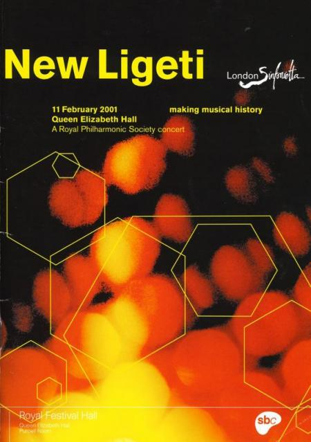 2001 - New Ligeti, 11 February, generously supported by Ruth Rattenbury
