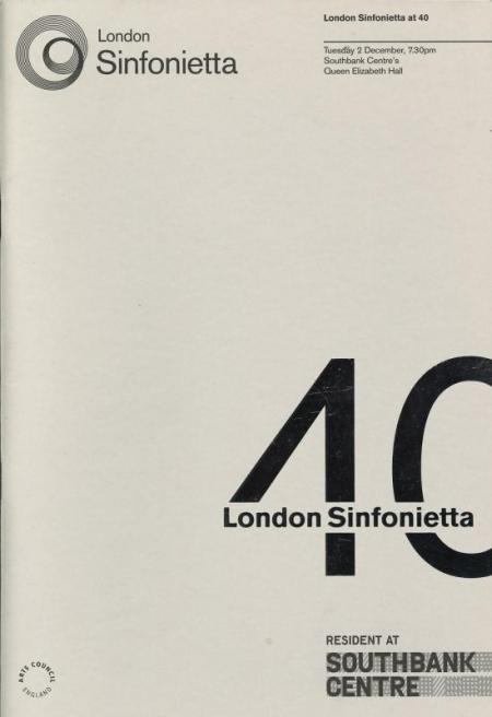 2008 - London Sinfonietta at 40, 2 December