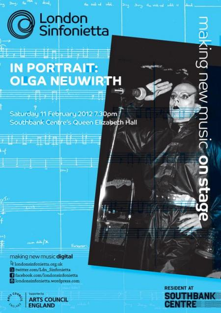 2012 - In Portrait: Olga Neuwirth, 11 February, generously supported by Trevor Cook