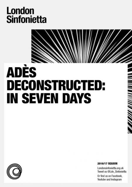 2017 - Adès Deconstructed: In Seven Days, 1 February, generously supported by Paul & Sybella Zisman