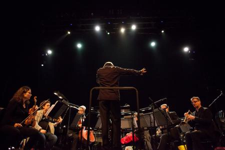Ilan Volkov conducts the London Sinfonietta in a mix of  composer Fausto Romitelli, DJ sets and sound installations at The Coronet Theatre, April 2016