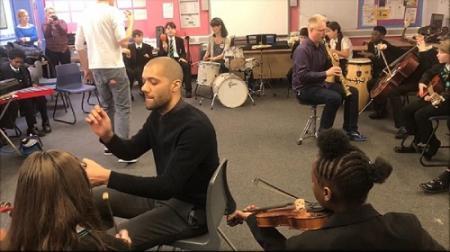 Duke's Aldridge Academy Sound Out workshop. January 2018