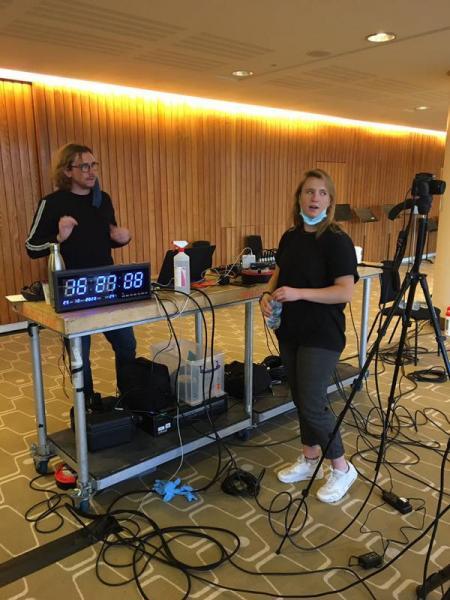 The London Sinfonietta team working behind the scenes