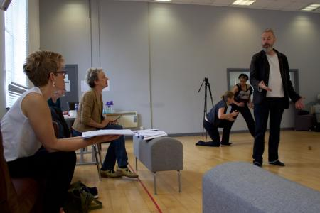 Tansy Davies in rehearsals