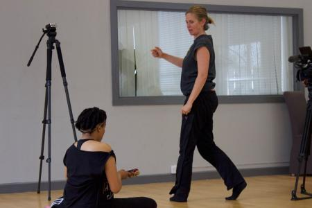 Elaine Mitchener with movement director Sarah Dowling