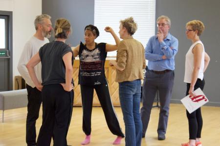 The creative team recap on the rehearsal
