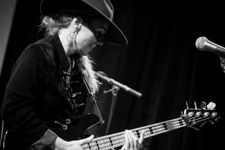 Bassist Ida Nielsen, soloist at Nordic Nights, June 2017