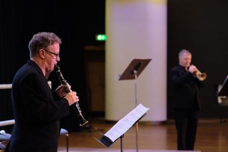 Mark van de Wiel (clarinet) and Alistair Mackie (trumpet) © Mark Allan