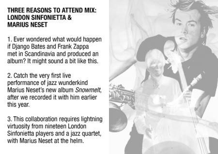 Three Reasons to Attend Mix: London Sinfonietta & Marius Neset