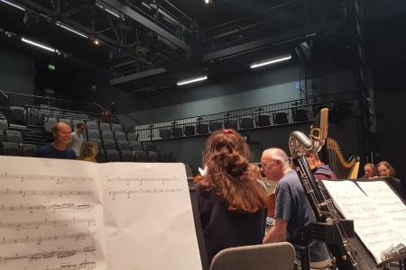 Olivia's view from the bassoon section with Peter Rundel conducting © Olivia Palmer-Baker