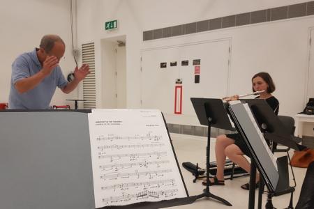 London Sinfonietta Academy sectional © Olivia Palmer-Baker