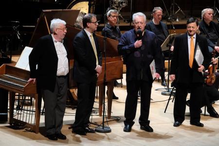 Sir Harrison Birtwistle, Andrew Burke, David Atherton and Nicholas Snowman © Mark Allan
