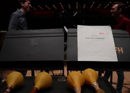 Reich: Music for 18 Musicians Rehearsals © Amelia Lampitt