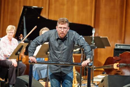 Geoffrey Paterson in rehearsal