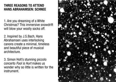 Three Reasons to Attend Hans Abrahamsen: Schnee