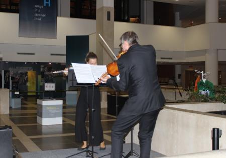 Silvija Ščerbavičiūtė and Jonathan Morton perform Harrison Birtwistle's Duet 4