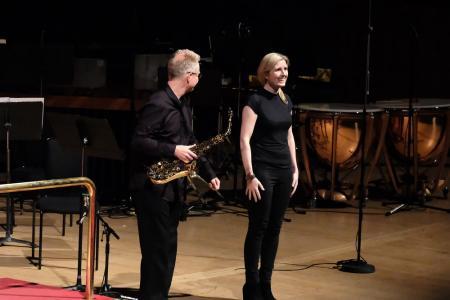 Simon Haram and composer Deborah Pritchard © Mark Allan