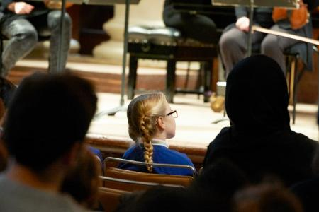 Child at Primary School Concert