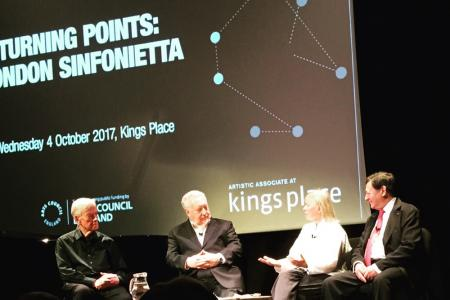 Turning Points: London Sinfonietta - panel discussion with Fiona Maddocks and LS founders David Atherton and Nicholas Snowman, and emeritus Principal Piano John Constable