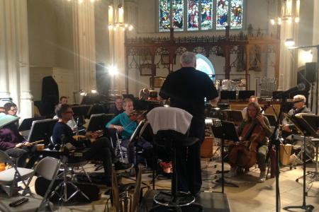 Rehearsals for Henze's complex collection of 22 songs, Voices