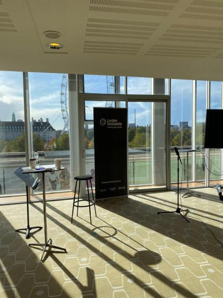 our home for the day at Southbank Centre with beautiful views