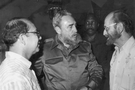 Poet Miguel Barnet and Fidel Castro, Cuba