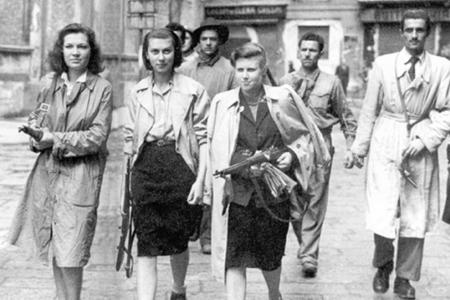 Image of women during the Italian resistance