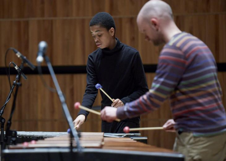 Young percussion player image